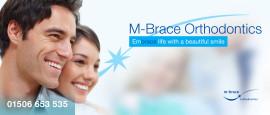 Header graphic for M-Brace Orthodontics in Bathgate