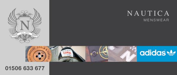 Header graphic for Nautica Designer Menswear Bathgate