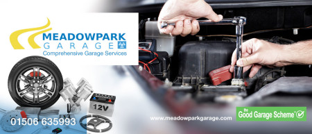 Meadowpark Garage profile header graphic
