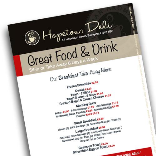 Menu image with link to PDF Breakfast Menu