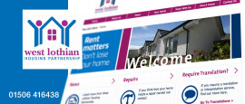 West Lothian Housing Partnership Graphic